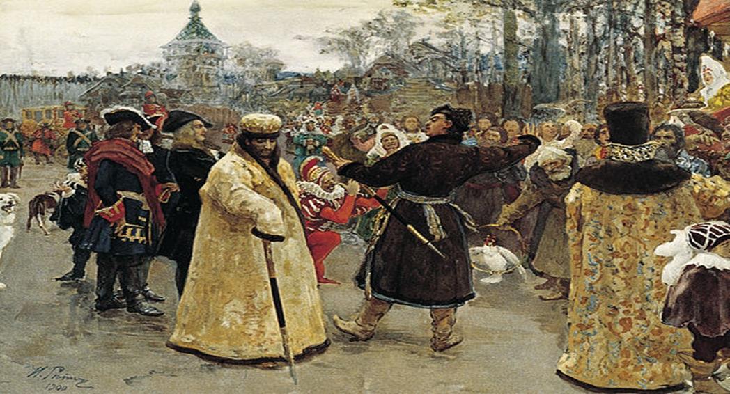 Two_tsars_by_I.Repin_(1900,_GRM)