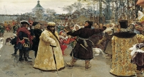 Two_tsars_by_I.Repin_(1900,_GRM)